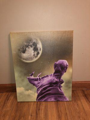Purple howling hippo canvas art for Sale in Cincinnati, OH