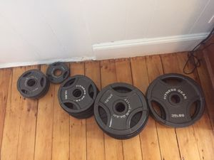 Rack, barbell, and weights for Sale in Washington, DC