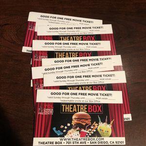 Movie Theatre tickets! **Still Open!!** for Sale in San Diego, CA
