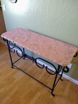 Stone Top Entry/Sofa Table for Sale in Mesa, AZ