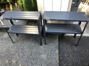 Industrial Light weight Storage shelves Gray and black for Sale in Mill Creek, WA