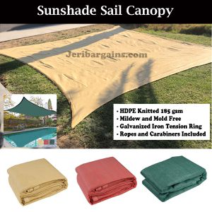 New 18x18 patio pool deck shade sun shade sail Sun Screen mesh canopy for Sale in Riverside, CA