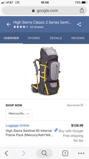High Sierra 65 Hiking Backpack - Brand New for Sale in St. Louis, MO