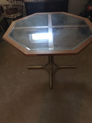 Glass octagon table. for Sale in New Columbia, PA