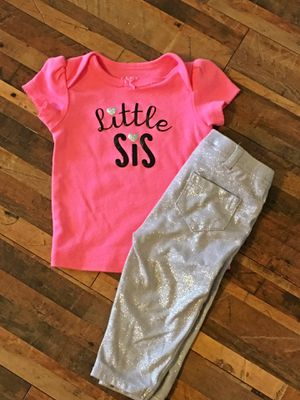 Little sis shirt w/pants for Sale in Peyton, CO