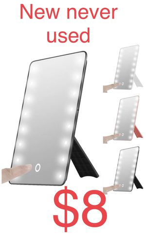 oenbopo Touch Foldable LED Lighted Vanity Mirror with Light, Smart Touch Kickstand 16LED Lighted Vanity Mirror Makeup Cosmetic Countertop Cordless Ta for Sale in St. Charles, IL