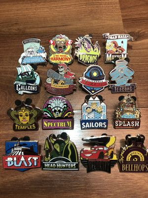 Disney Pins (complete set) for Sale in Menifee, CA