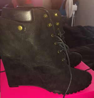 Black Suede Wedge Ankle boots-Size 11 for Sale in Columbus, OH