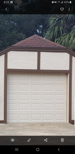 10ftWx8ftH 10x8 garage door complete with electric Lift Motor $425obo for Sale in Longwood, FL