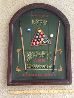 "Wall decor ""Pool and Billiards"" for Sale in Los Angeles, CA"