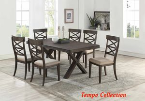 NEW, 7PC Wire Brushed Dining Room SET, SKU# 7811 for Sale in Santa Ana, CA