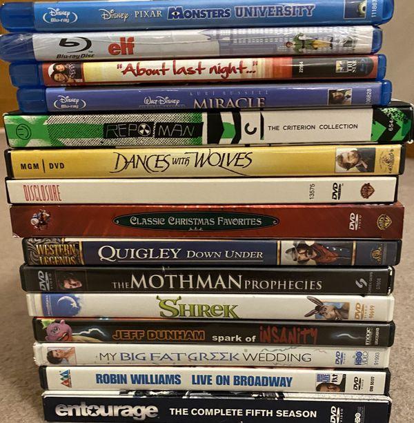 Lot of 15 Various Genre DVDs