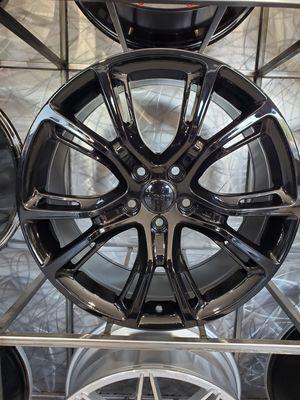 22x9 Jeep SRT rep wheels fits Durango grand Cherokee5x127 et32 rim tire shop for Sale in Tempe, AZ