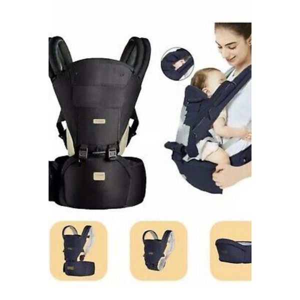 Treppy Ergonomic Baby Carrier 0-36 Months & up to 40lbs Charcoal Black BRAND NEW