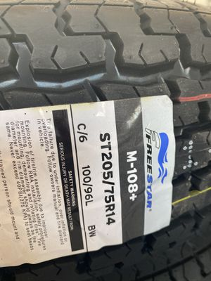 ST205/75r14 new trailer tires for Sale in Moreno Valley, CA