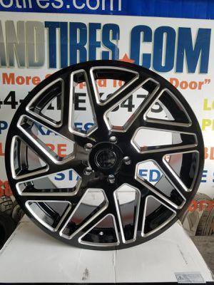 24 inch Black Rhino Cyclone, Toyota Tundra, Black Milled Wheels Rims 5x150 for Sale in Hallandale Beach, FL