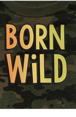 Garanimals Baby Boys'born Wild Short Sleeve Ringer Bodysuit for Sale in The Bronx,  NY