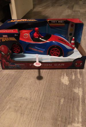 Spider-Man/ captain America friction car with sound and light for Sale in Las Vegas, NV