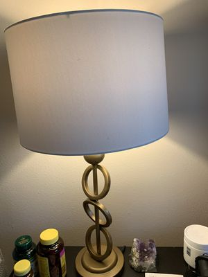 Beautiful gold side table lamp PAIR for sale- move out sale for Sale in Morrisville, NC