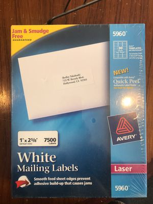Avery 5960 mailing labels for laser printer for Sale in St. Louis, MO