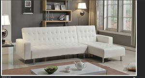 Brand New White Futon Sectional Sofa for Sale in Austin, TX
