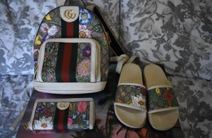 Gucci set will throw in slides if you buy bag and wallet for Sale in Riverside, CA