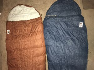 2 Vintage The North Face Super Light Sleeping Bag Goose Down USA w Bag for Sale in Santa Ana, CA