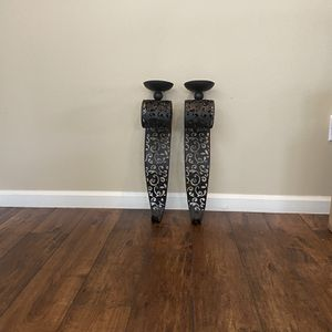 Wrought Iron Wall Hanging Candle Holder-Set Of Two for Sale in Bakersfield, CA