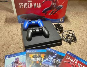 PS4,slim ,1tb w 2 controllers and four games for Sale in Atlanta, GA