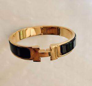 HERMES Enamel Narrow Clic Clac H Bracelet PM Black for Sale in Needham, MA