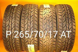 4 New tires P 265/70/17 AT llantas nuevas for Sale in Chula Vista, CA