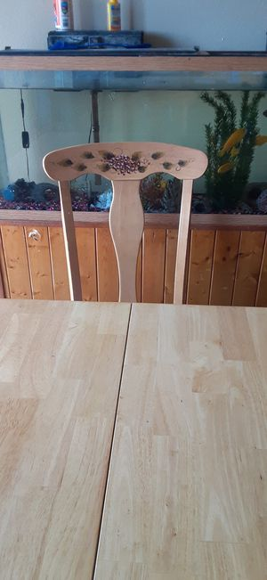 Wooden kitchen table with 6 chairs for Sale in Blaine, MN
