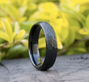 Size 7 1/2 Black Hammered Tungsten Ring for Sale in Hillsboro, OR