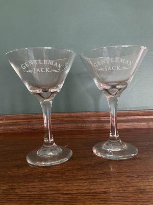 Gentlemen Jack Martini Glasses for Sale in Washington, IL