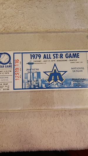 Unused ticket from 1979 all-star game in Kingdome for Sale in Kirkland, WA
