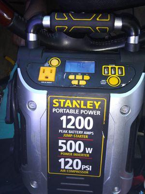 Stanley jump starter air compressor and 120v inverter for Sale in Palm Springs, FL