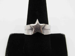 Size 9.5 Sterling Silver Rustic Heavy Star Band Ring Vintage Statement Engagement Wedding Promise Anniversary Bridal Cocktail Friendship for Sale in Everett, WA