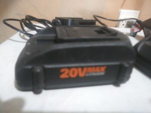2 new batteries with charger $20 all firm for Sale in Fresno, CA