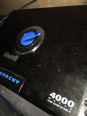 Planet audio amp 4000 watts for Sale in Nashville, TN