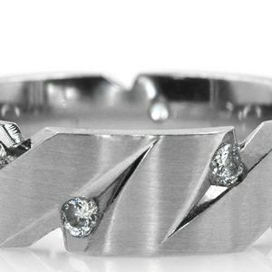 1006WG MENS 14K GOLD DIAMOND WEDDING RING BAND 7mm 12.45GRAMS for Sale in Beverly Hills, CA