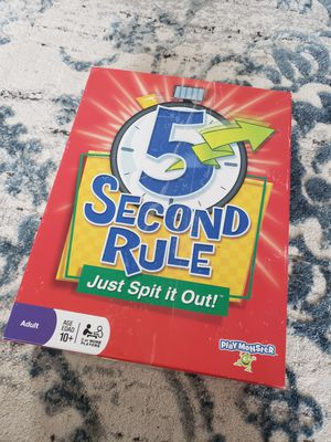 5 Second Rule Board game for Sale in Chesapeake, VA