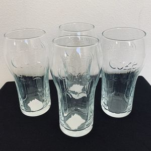 Lot of 4 Coca Cola glasses collectable luminare coke for Sale in Tustin, CA