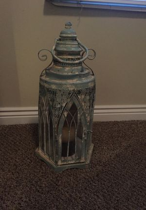 Teal birdhouse candle holder for Sale in Sandy, UT