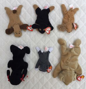 Vintage 90's Beanie Baby Dog Bundle / Lot of 6 for Sale in Fresno, CA