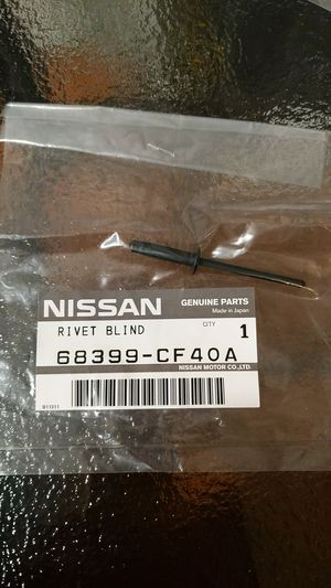 Infiniti Part No.: 68399-CF40A RIVET $1 each for Sale in Downey, CA