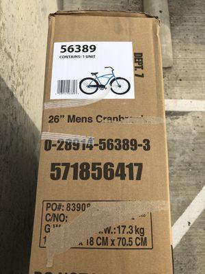 "HUFFY 26"" CRANBROOK MEN'S BEACH CRUISER COMFORT BIKE, Matte Blue for Sale in Arlington, TX"