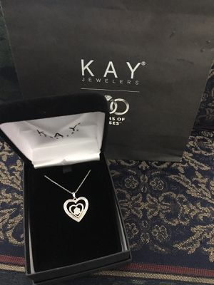 Diamond heart necklace for Sale in Washington, DC