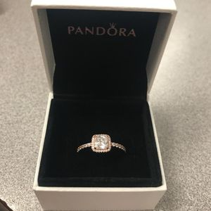 PANDORAS Rose gold timeless elegance ring! 14k gold the Gem inside is CZ. Original price was $100.00 I'm selling it for $70 price is negotiable for Sale in Pittsburgh, PA