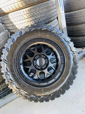"""17"""" new Xd off road rims and mud tires 6 lug Chevy gmc Toyota 2657017 for Sale in Modesto, CA"""