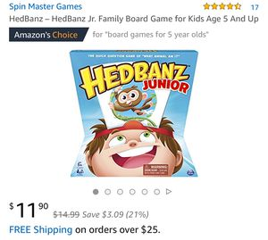 HedBanz Jr. Family Board Game for Kids Age 5 And Up for Sale in North Las Vegas, NV